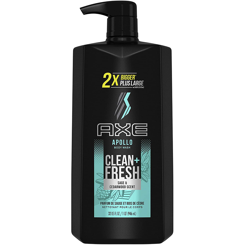 AXE Apollo Body Wash with Pump for Men | Sage & Cedarwood Scent | 946 mL