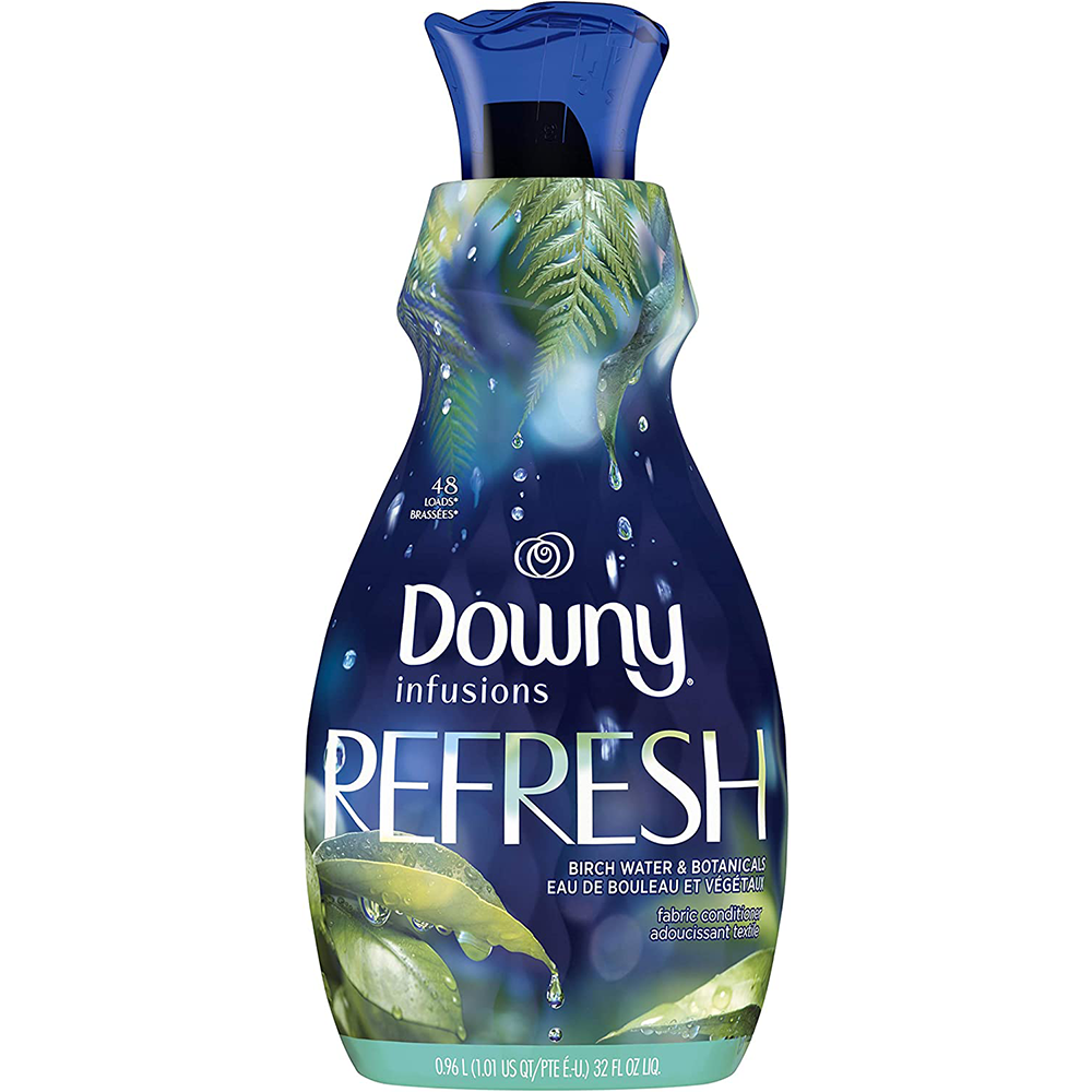 Downy Infusions Liquid Fabric Softener | Refresh, Birch Water & Botanicals | 0.96 L