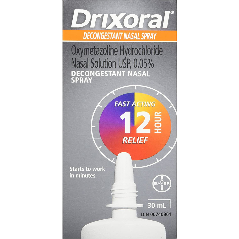 Drixoral Decongestant Nasal Spray | Fast and Long Lasting 12 Hour Relief | 30ml