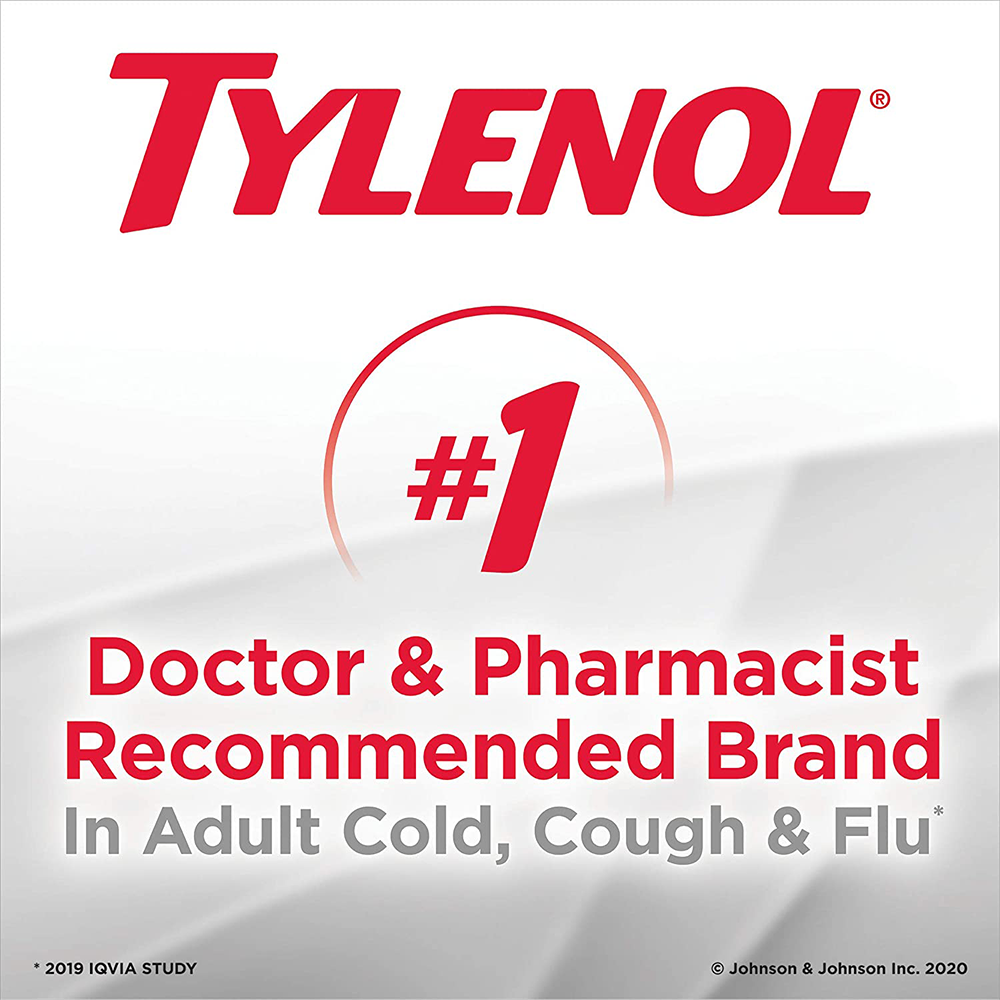 Tylenol Extra Strength Cold eZ Tabs | Relieves Cold symptoms |Day and Nighttime | 20ct-p2