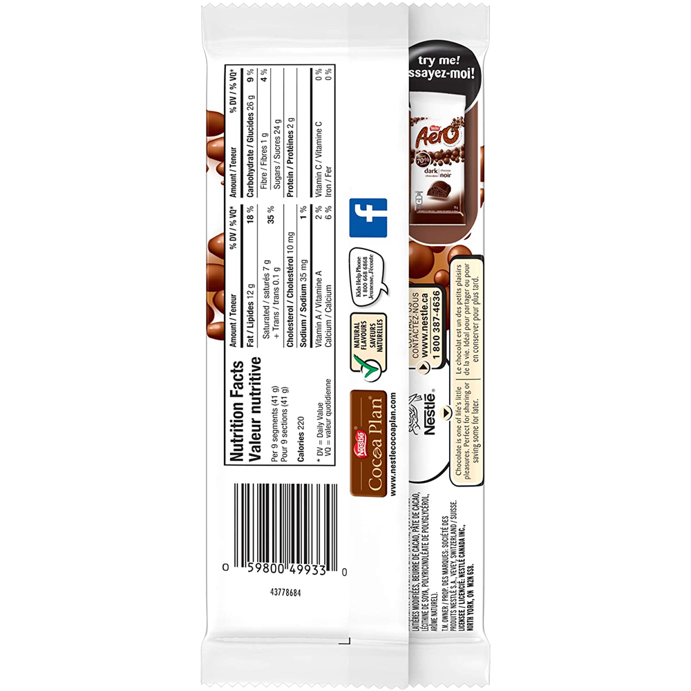 Aero Milk Chocolate Bar | 97 g