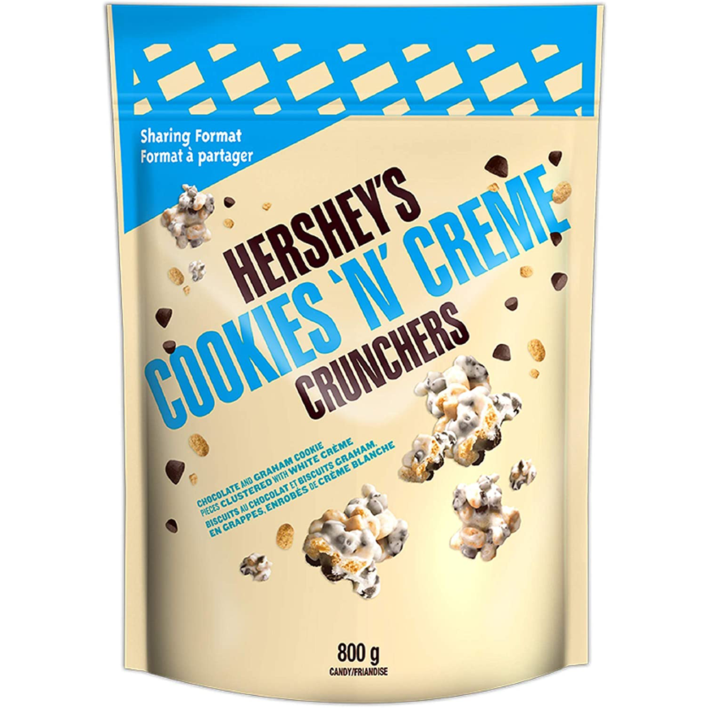 Hershey's Crunchers Chocolate Snack Mix | Cookies 'n' Crème White Chocolate | 800 g