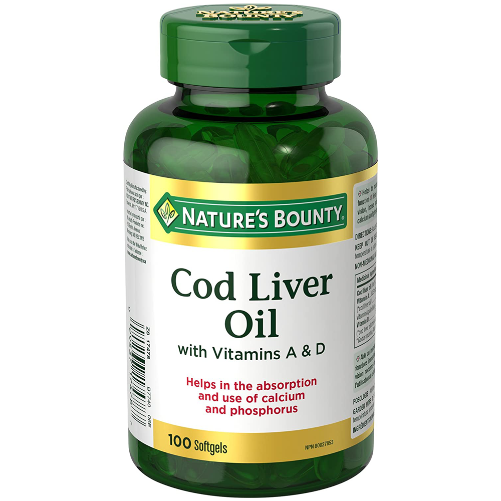 Nature's Bounty Cod Liver Oil with Vitamins A&D | 100 Count