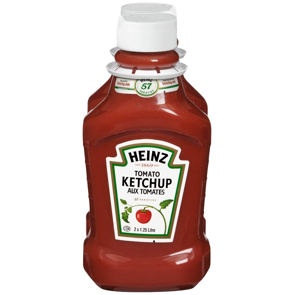 Heinz Tomato Ketchup | 1.25 L Fridge Fit Bottle | 2 Pack