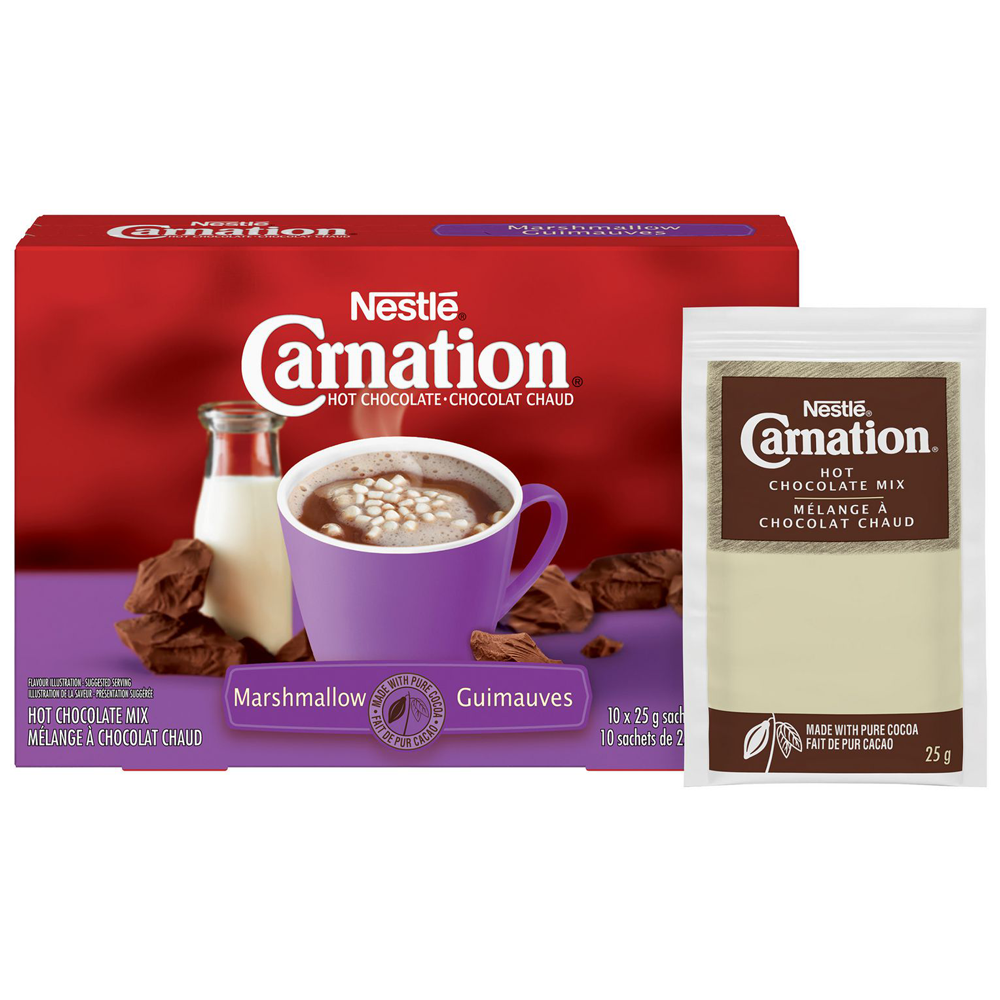 Nestle Carnation Hot Chocolate | Marshmallow | 25 g | 10 Count