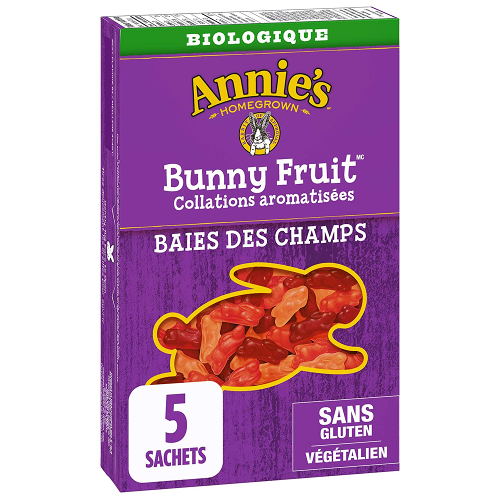 Annie's Homegrown Organic Berry Patch Bunny Fruit Snacks | 5 Pack | 115 g