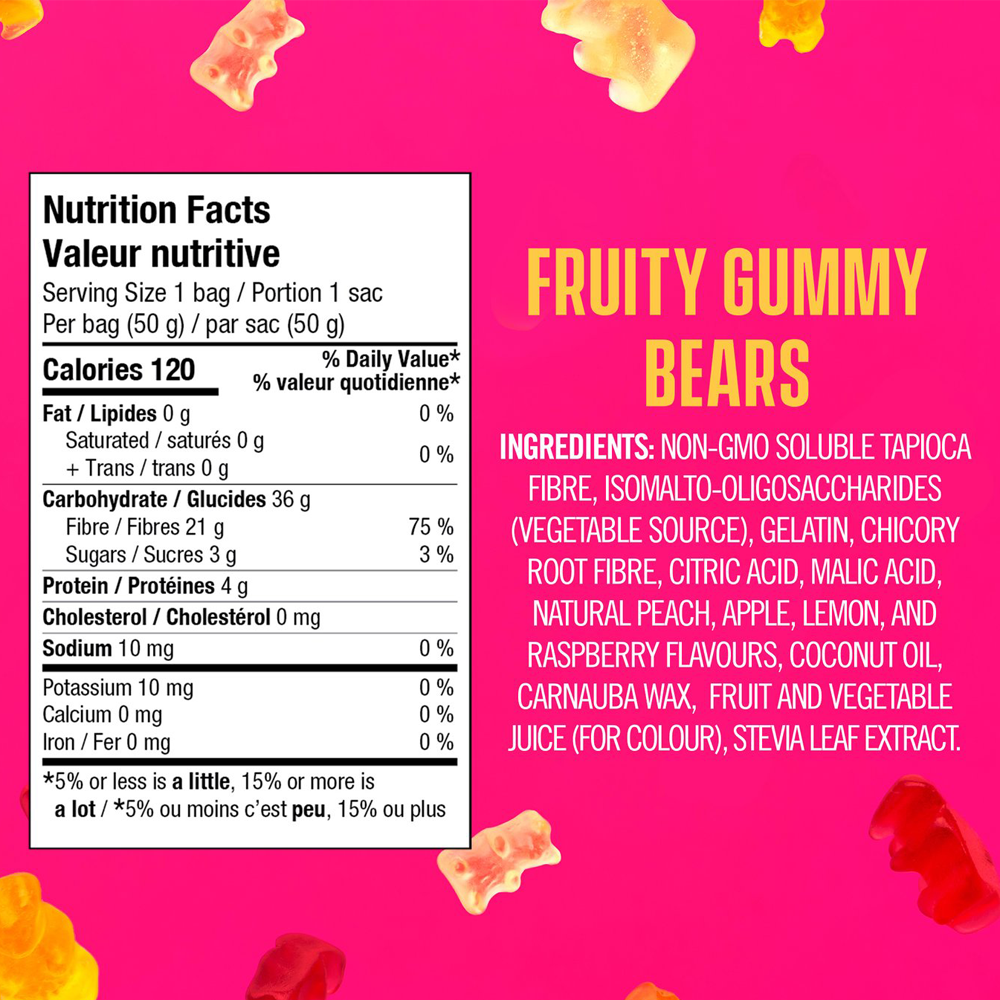 SmartSweets | Fruity Gummy Bears | 50 g