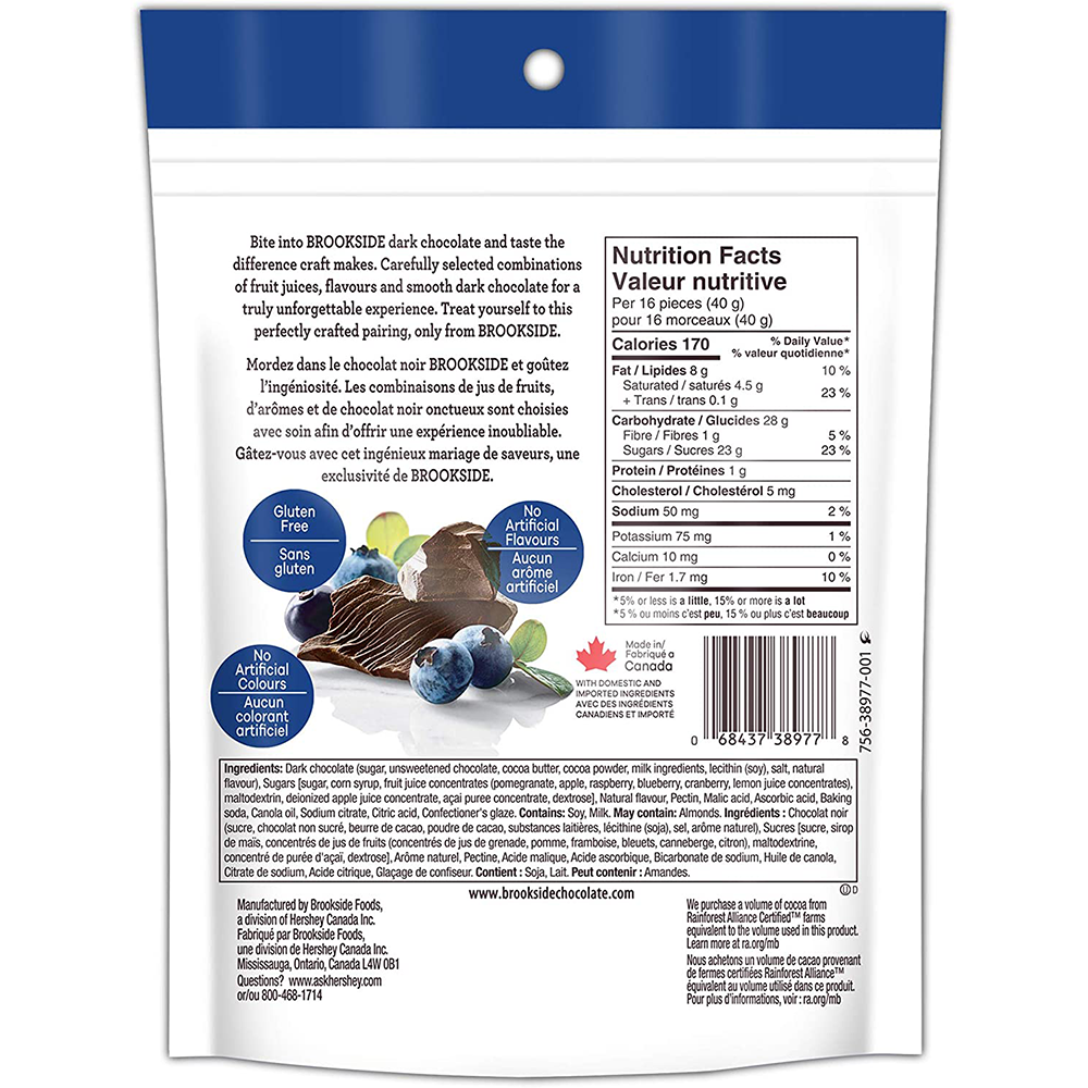 Brookside Dark Chocolate |  Acai Blueberry | 235 g