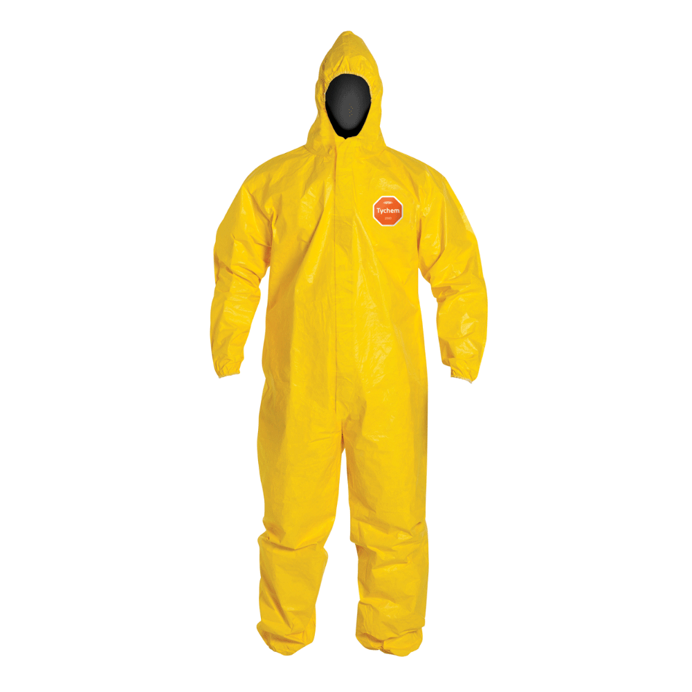 DuPont Tychem 2000 | Coverall w/ Hood, Elastic Wrists and Ankles | Serged Seam