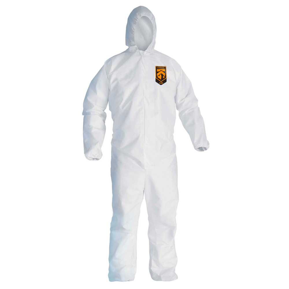 KleenGuard A30 Coverall | Hooded | White