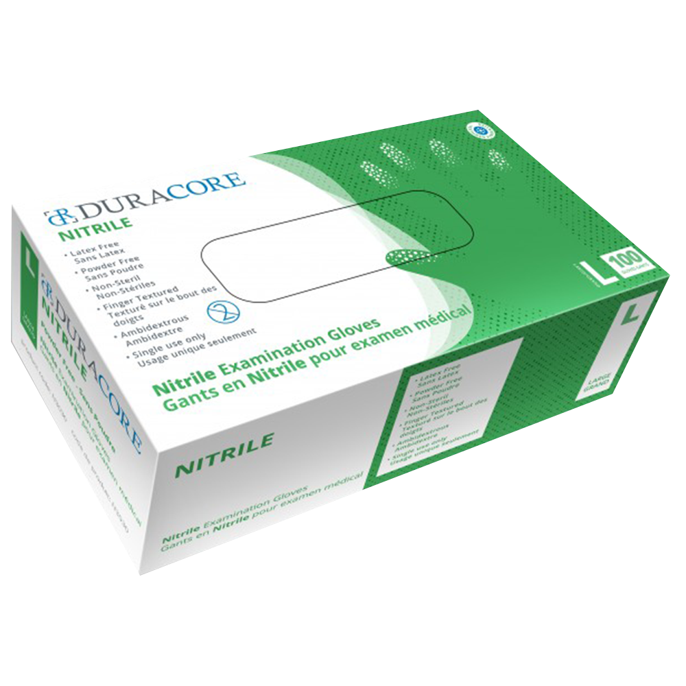 Duracore Nitrile Examination Gloves | 3 Mil | 100 per Box