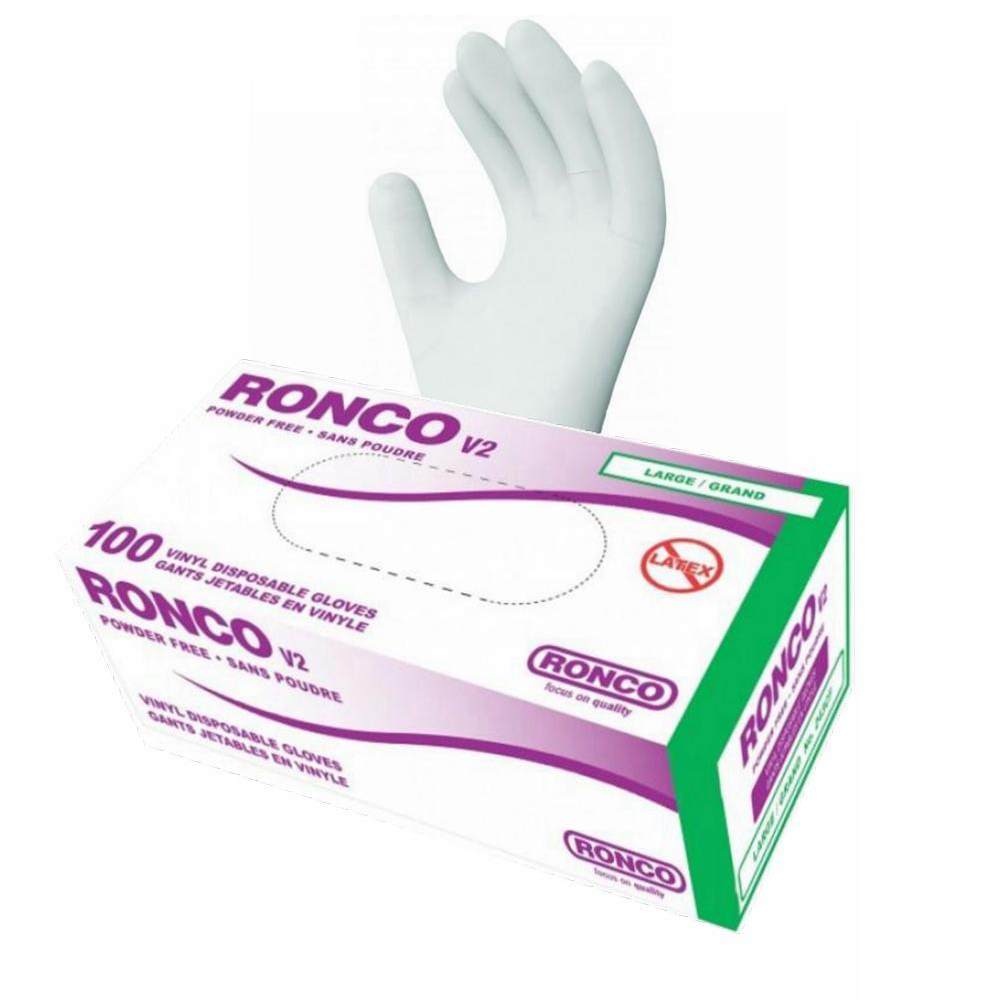 Ronco V2 Vinyl Disposable Gloves | 4 Mil