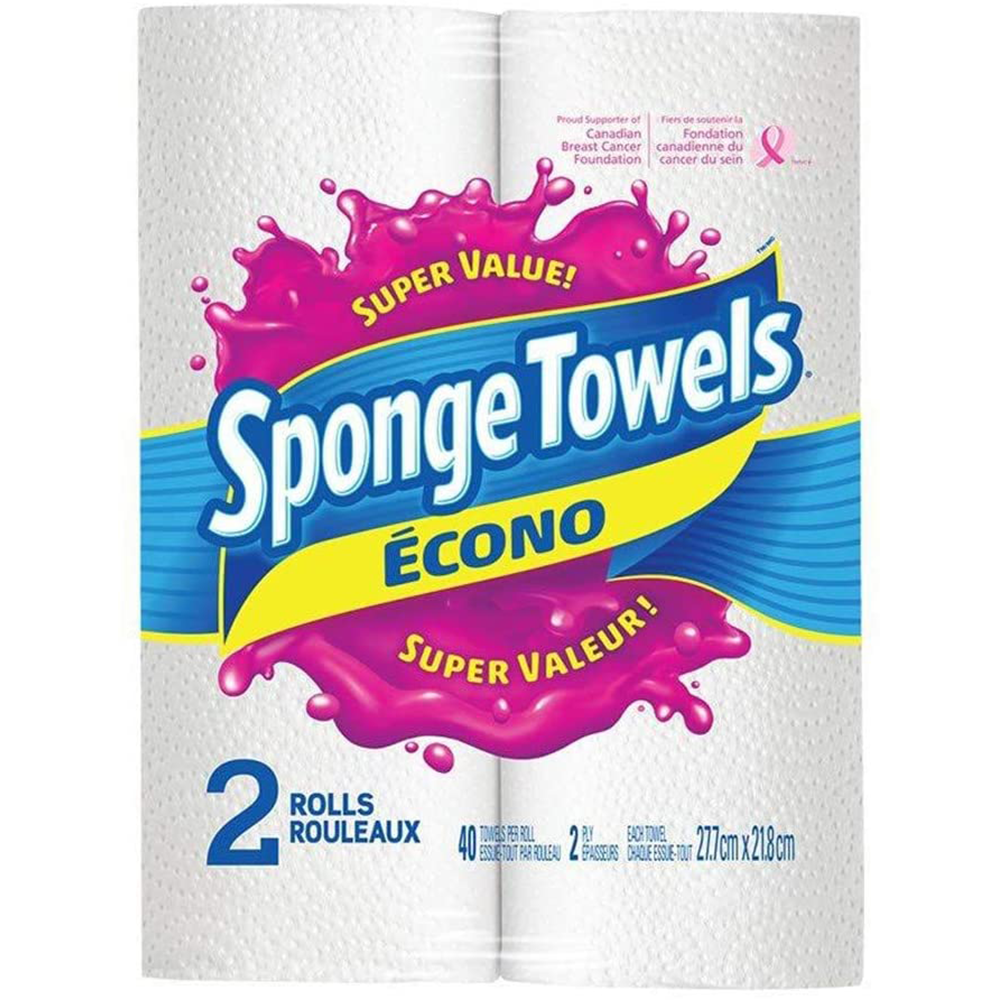 SpongeTowels Household Towel | Econo Saver | 2 Pack