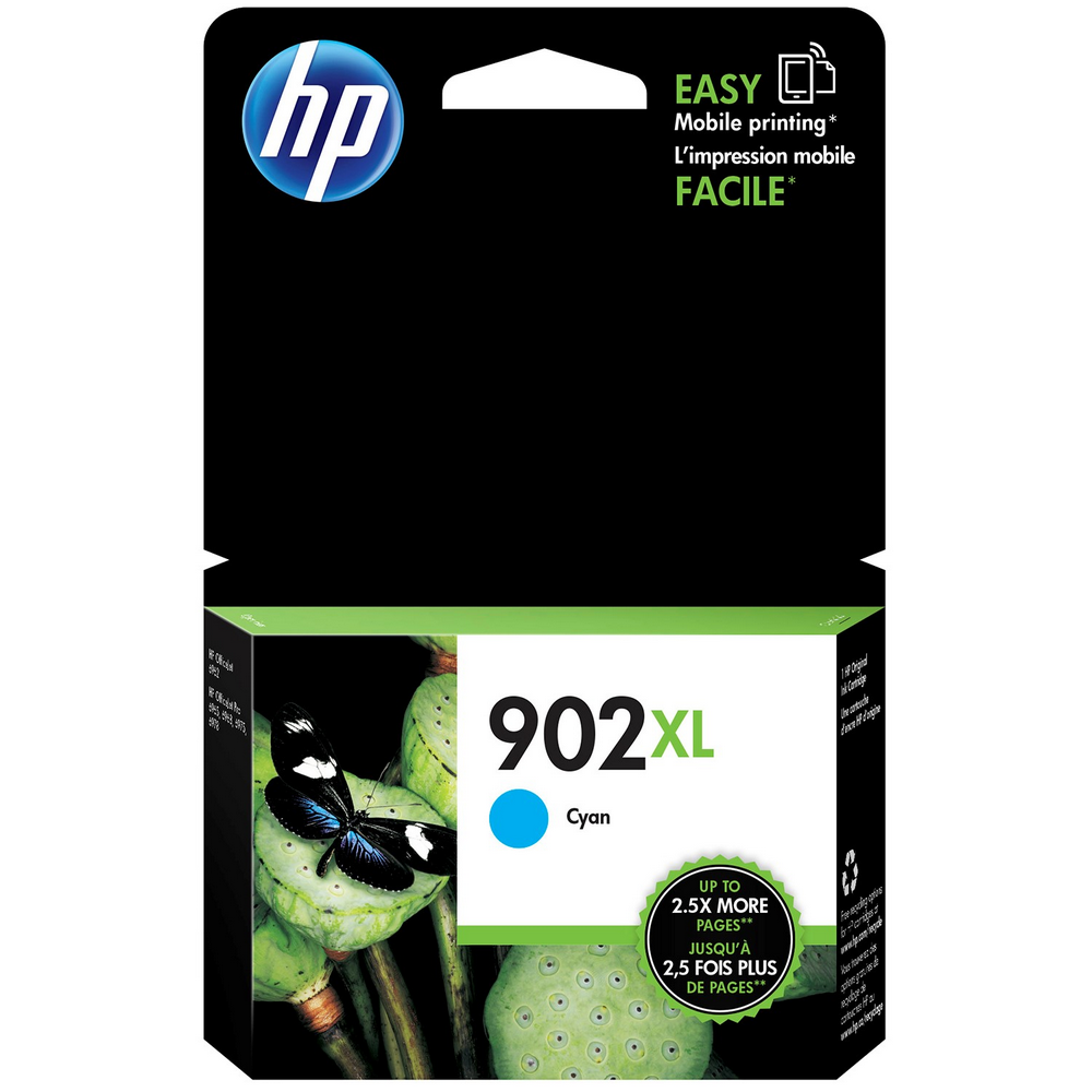 HP 902XL Cyan High Yield Ink Cartridge (T6M02AN)