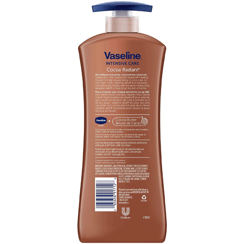 Vaseline Intensive Care Body Lotion | Cocoa Radiant | 600 ml