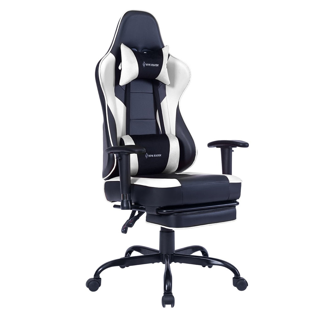 NEW! Killabee Ergonomic Gaming Chair With Massaging Lumbar Pillow