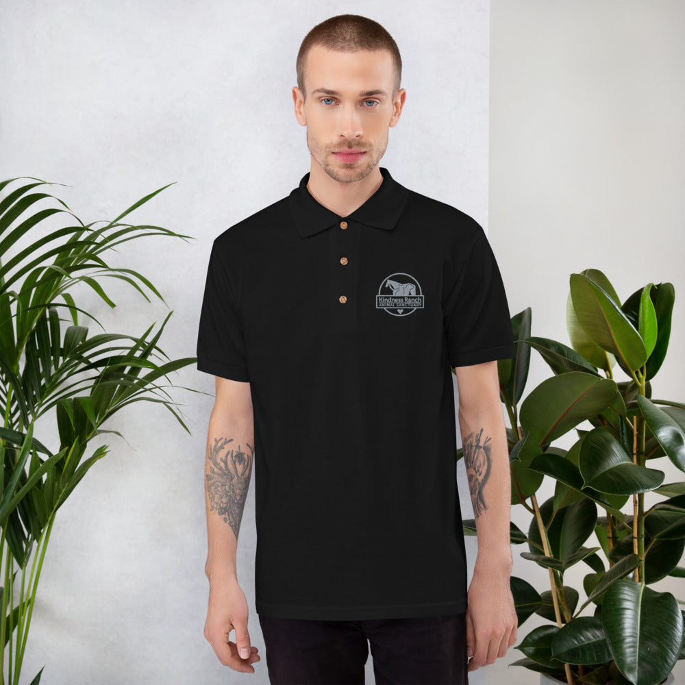 Kindness Ranch Logo Embroidered Polo Shirt