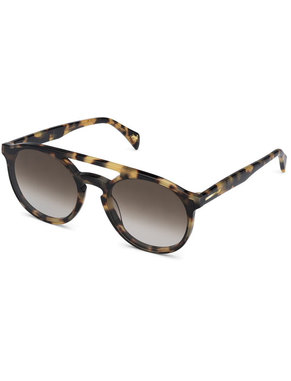 Light Havana Aviator Sunglasses