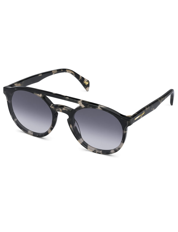 Grey Havana Aviator Sunglasses