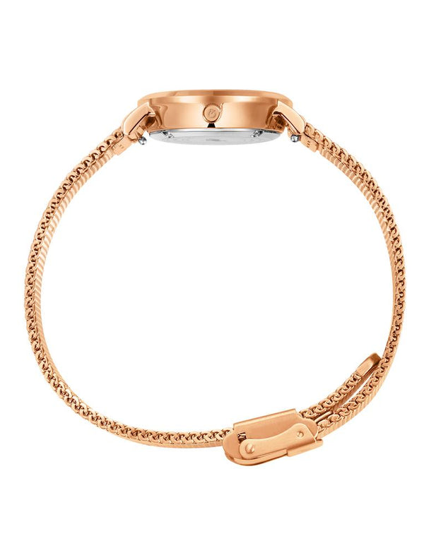 Lugano Milanese 26mm Rose Gold Satin-White