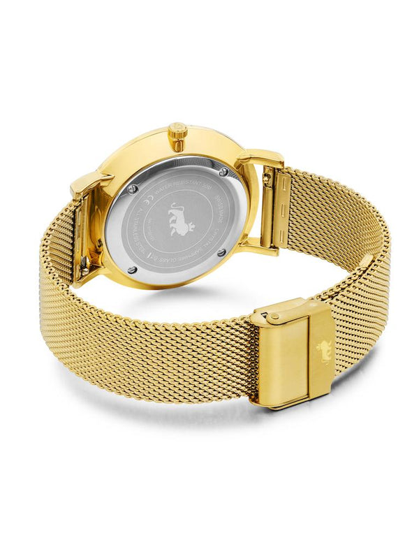 Lugano Milanese 40mm Gold Satin-White