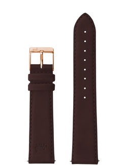 18mm Brown Strap with Rose Gold Buckle