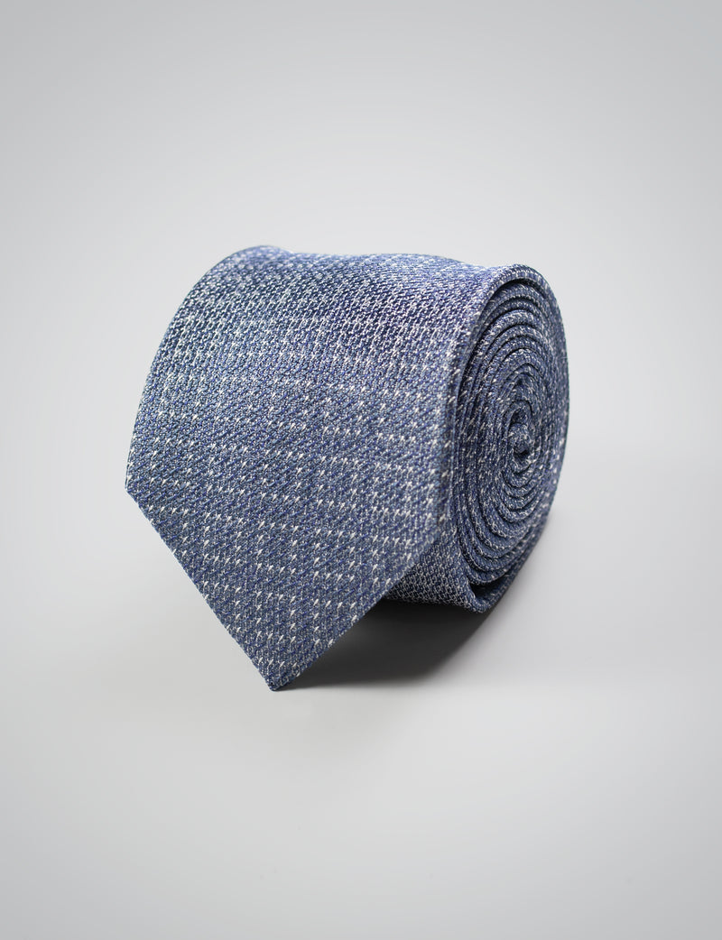 Blue Textured Silk Tie