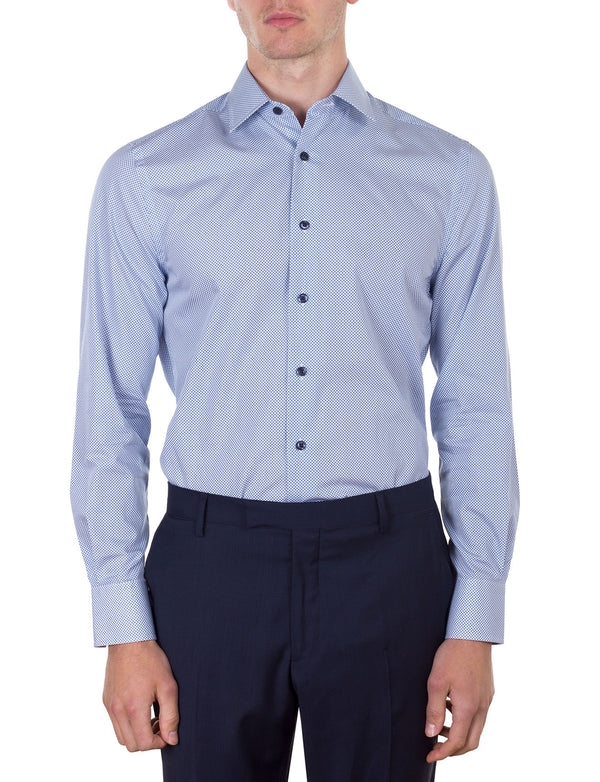 Printed Diamond Business Shirt (Slim Fit)