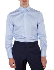 Blue Micro Spot Business Shirt (Slim Fit)