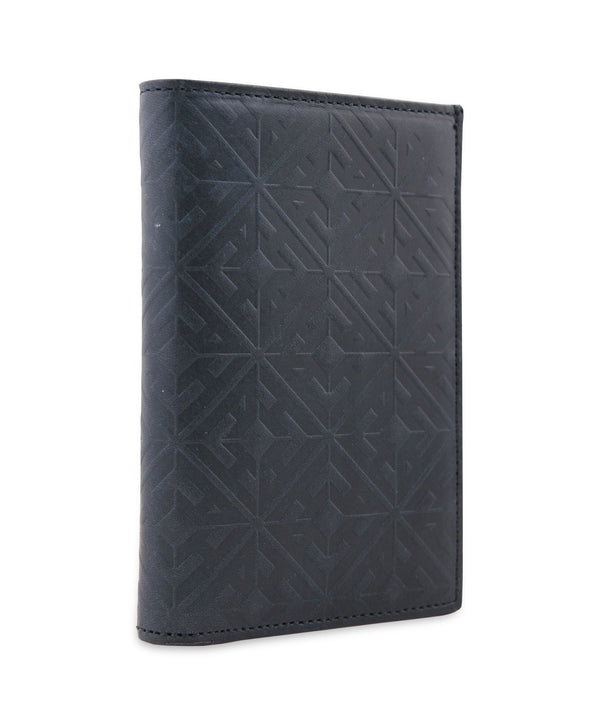 EMBOSSED MONOGRAM SLIM LINE LEATHER  WALLET