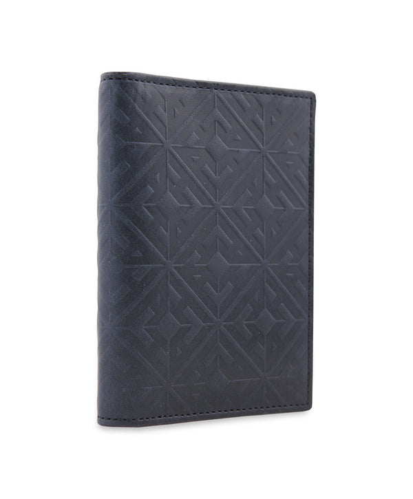 EMBOSSED MONOGRAM LEATHER CREDIT CARD HOLDER
