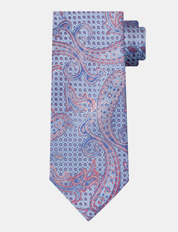Abstract Paisley Italian Silk Tie