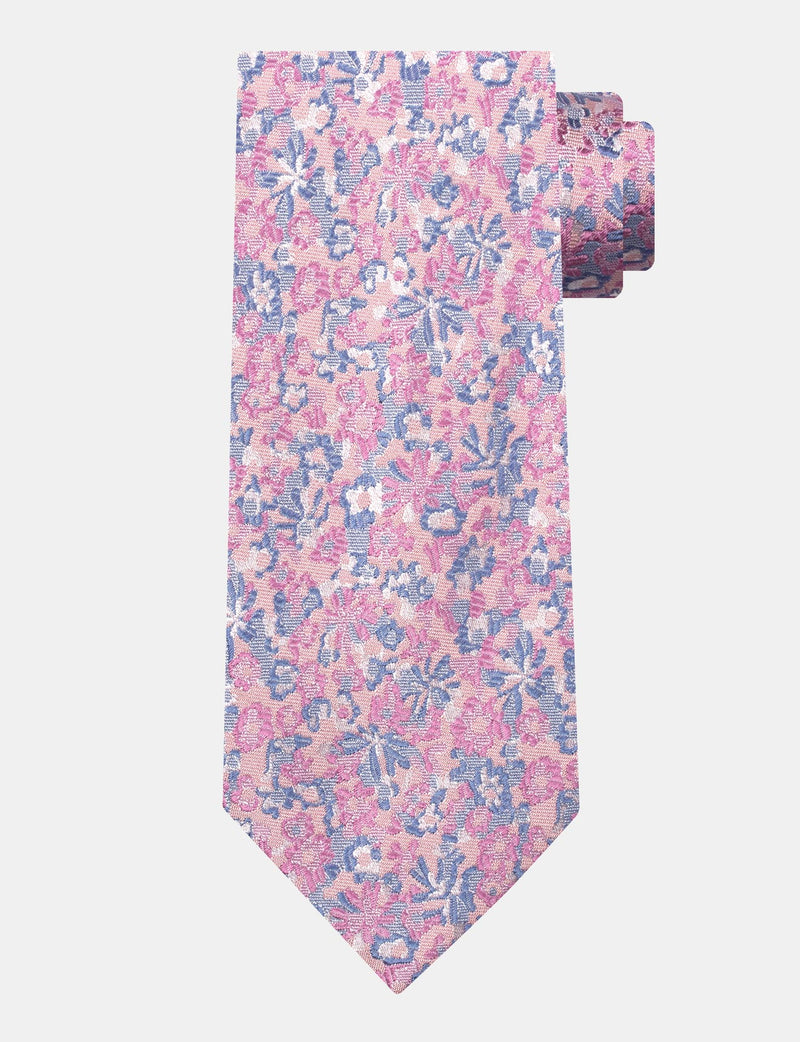 Dusty Pink Floral Silk Tie