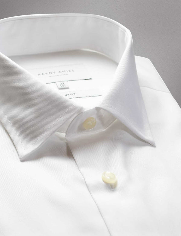White Micro Twill Shirt (Slim Fit)