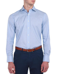 LIGHT BLUE LINE CHECK SHIRT