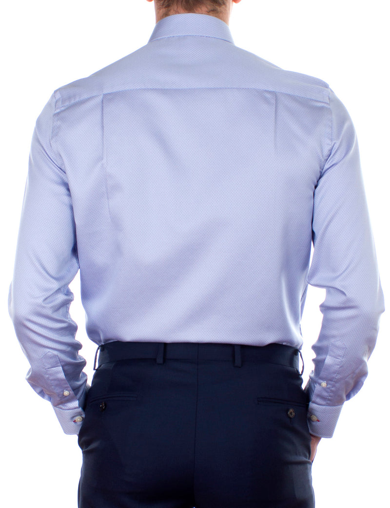 White Micro Spot Business Shirt (Contemporary Fit)