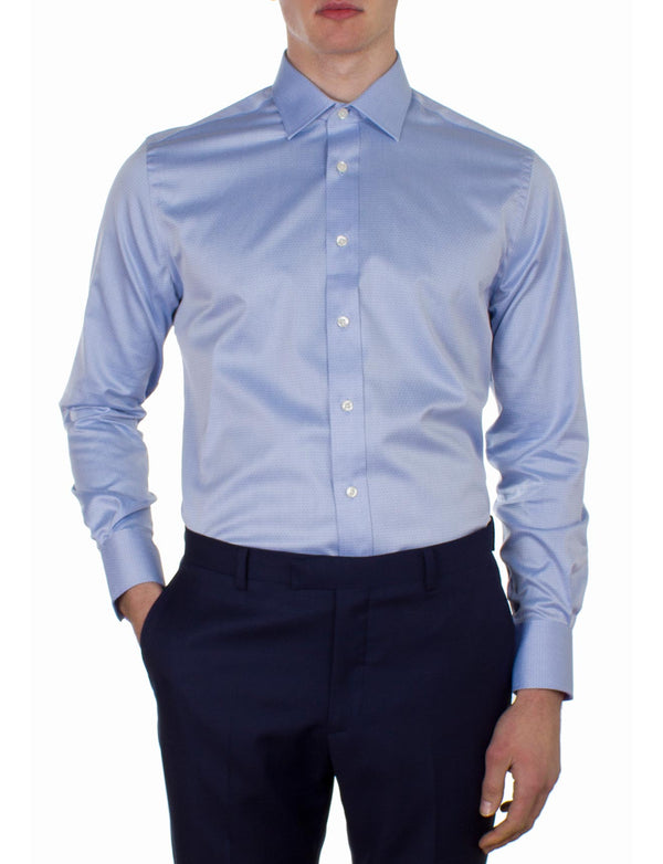 Blue Diamond Jacquard Business Shirt (Contemporary Fit)