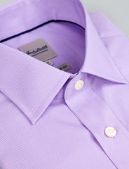Fine Lilac Stripe Business Shirt (Contemporary Fit)