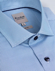 Hexagon Tile Print Business Shirt (Slim Fit)