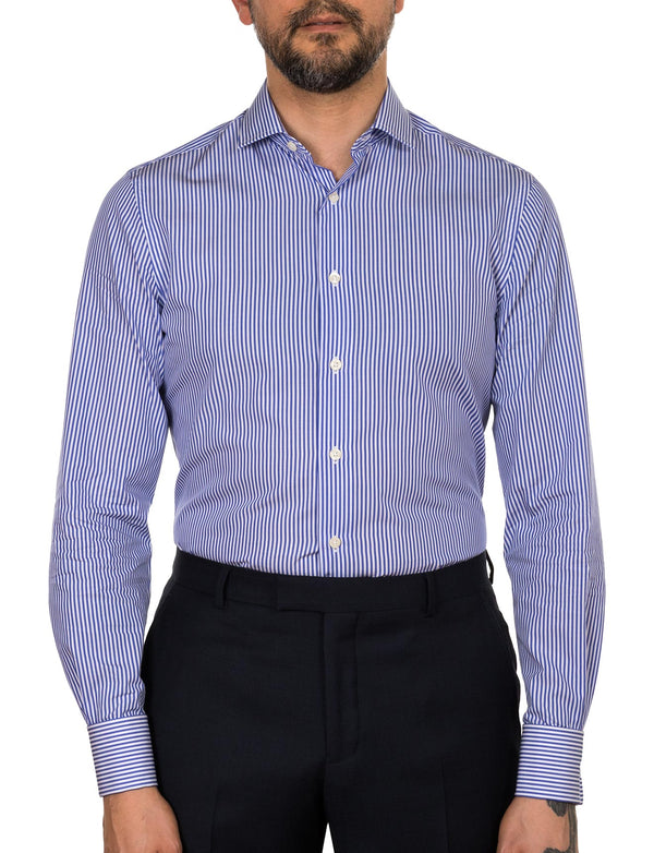 Cobalt Stripe Slim Fit Shirt