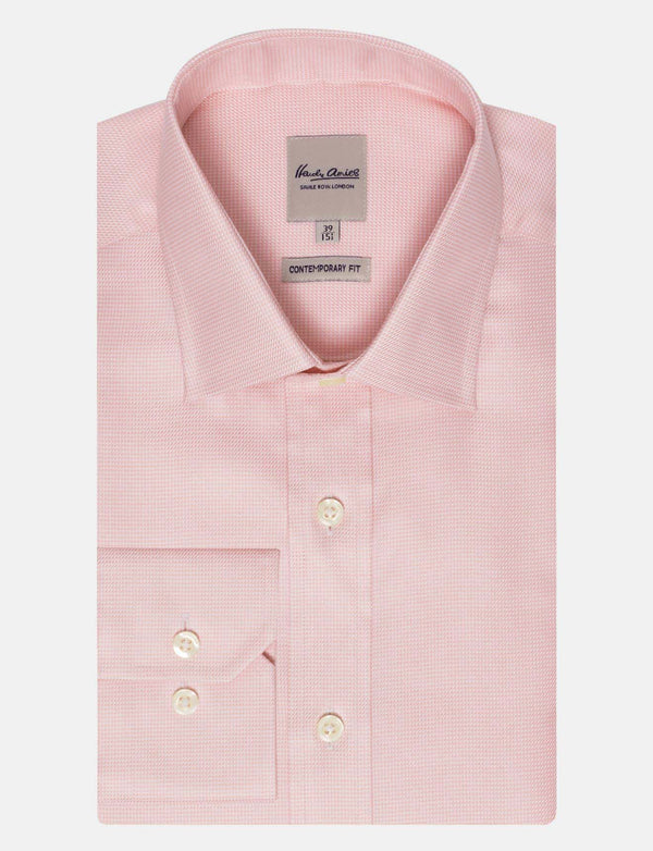 Pink Houndstooth Business Shirt
