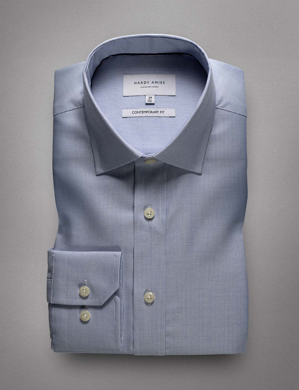 Sky Micro Stripe Business Shirt