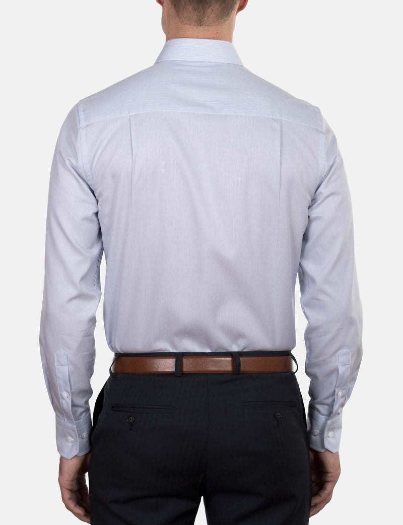 Classic Stripe Business Shirt (Slim Fit)