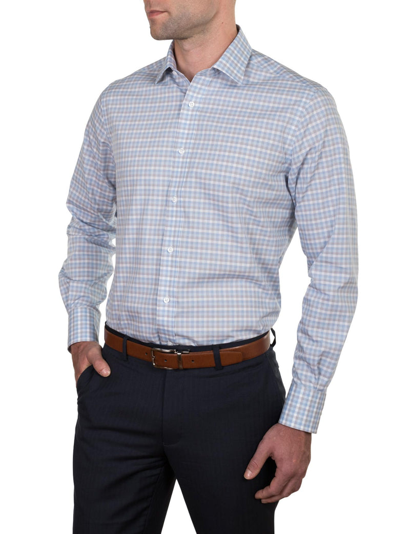 Graded Check Business Shirt