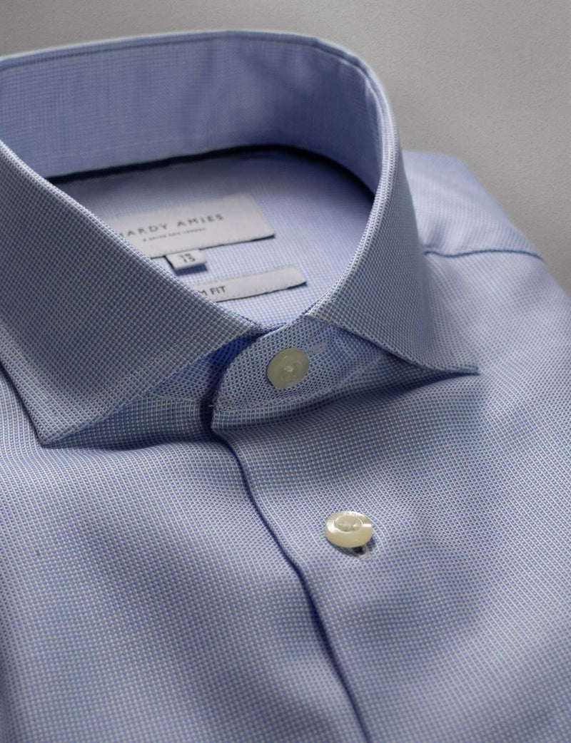 Micro Grid Business Shirt (Slim Fit)