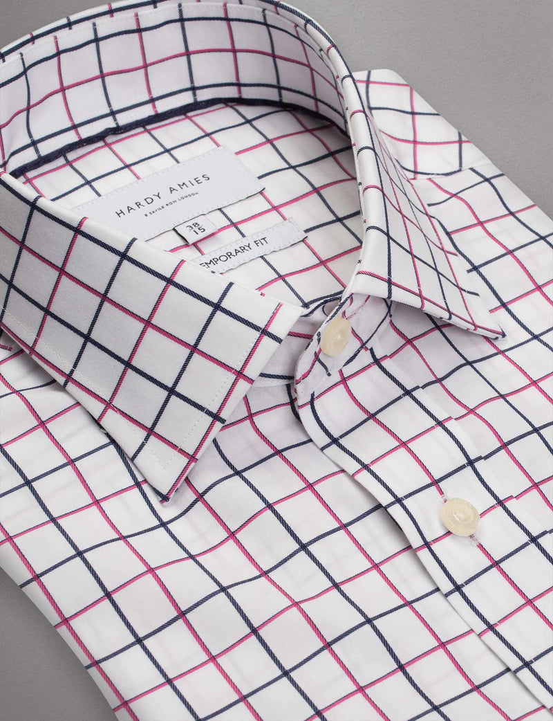 Window Pane Check Business Shirt (Contemporary Fit)