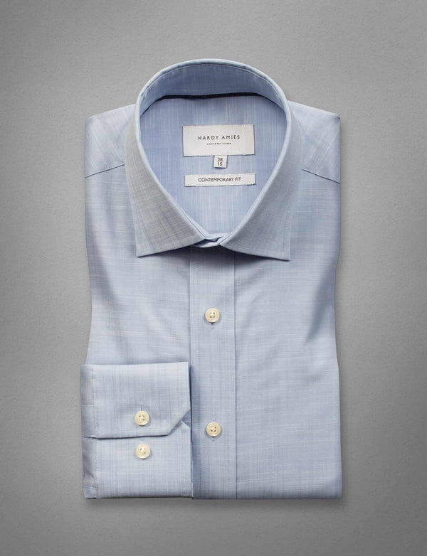 Blue Fine Weave Business Shirt (Contemporary Fit)