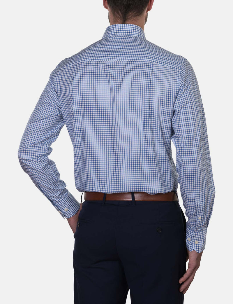 Cobalt Check Business Shirt (Contemporary Fit)