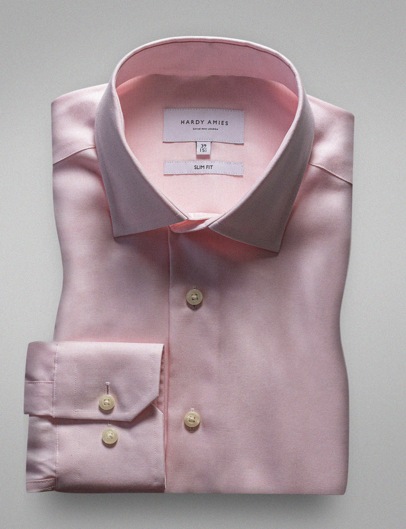 Classic Pink Business Shirt (Slim Fit)
