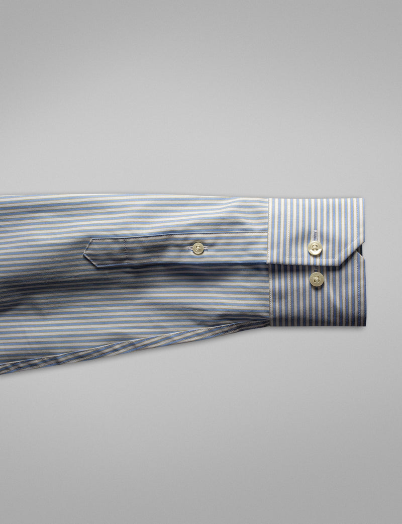 Light Blue Stripe Business Shirt (Slim Fit)